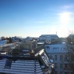 Minihäuser auf den Flachdächern von Kreuzberg